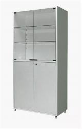 Шкаф металлический двухсекционный двухстворчатый МСК - 647.02