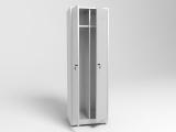 Шкаф металлический для одежды двухстворчатый