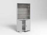 Шкаф металлический двухсекционный двухдверный ШМС-2