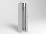 Шкаф металлический для одежды двухстворчатый ШМО-2 (для пищевой промышленности)