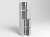 Шкаф металлический архивно-складской четырехсекционный