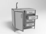 Лабораторный стол с мойкой СЛМ 2-03