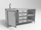 Лабораторный стол с мойкой СЛМ 3-02